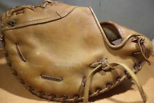 Vintage Hutch GPB Baseball Glove First Baseman Mitt  Pro Tan Leather- RHT - Nice