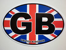 Window & Bumper Sticker - GB Union Jack Oval Car Sticker.