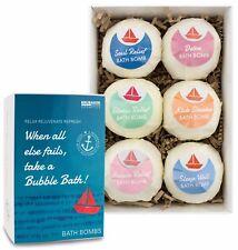 BRUBAKER Boules de bain effervescentes 'Anchor Box' Coffret cadeaux 6 Pièces