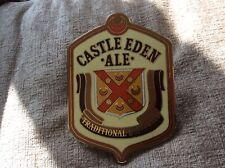 CASTLE EDEN TRADITIONAL DRAUGHT ALE BEER PUMP BADGE METAL / ENAMEL