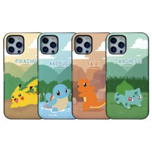 [Pokemon] Compatible with iPhone Series Pokemon Card Phone Case Kickstand Bumper