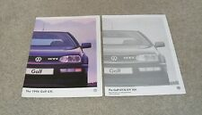 Volkswagen VW Golf Mk3 GTI & GTI 16v Brochure & Specifications 1996