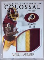 2016 National Treasures DeSEAN JACKSON Colossal FILTHY GU Patch 25/25 Redskins