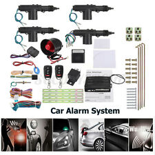 Car Security Alarm System Keyless Entry 4 Door Power Lock Actuator 2 Remote Us