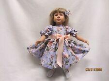 "BRIDal FLOWERS ON LAVENDER dress fits23"" My Twinn doll &matching bow barrette"