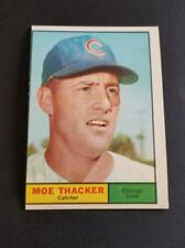 ORIGINAL1961 TOPPS CHICAGO CUBS BASEBALL CARD #12 MO THACKER EX.MINT