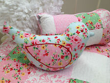 3pce  Shabby Chic Girls Baby Alice Cot Quilt Vintage Style Patchwork Floral Set