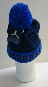 NWT Nike Jordan Jumpman Boys Cuffed Cable Knit Pom Beanie 8/20 Soar MSRP$24