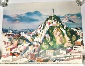 Vintage 1977 NUT TREE POSTER COIT TOWER CECILE JOHNSON Vacaville, CA NEW Unused