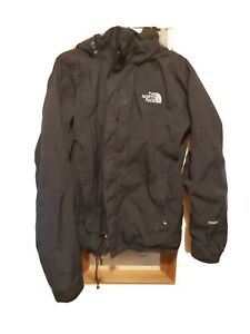THE NORTH FACE HYVENT HOODED Black  Rain Jacket Size Medium