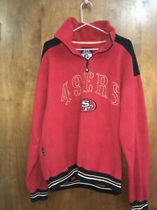Mirage NFL San Francisco 49ers Vintage Quarter Zip Pullover Size L