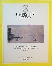 Christie's Impressionist & Modern Paintings And Sculpture Part 2 London 3/1984