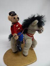 "World of Miniature Bears 3.5x3.5"" Plush Bear/Horse Winston & Derby #1104 CLOSING"