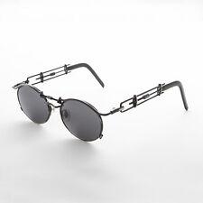 Vintage Steampunk Sunglasses Oval Lens Intricate Temple Antique Gun -Cyrus