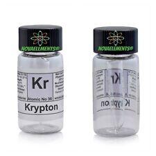 Krypton gassoso elemento 36 Kr campione 99,9% mini ampolla in fiala etichettata