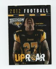 2012 TOWSON UNIVERSITY POCKET SCHEDULE (SKED) A