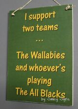Wallabies & Whoever's Playing The All Blacks Kiwi Rugby Union New Zealand Sign