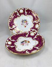 Antique Davenport Pair Of Porcelain Plates England 1849