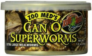 Zoo Med Can O Superworms Extra Large Mealworms 1.2 oz