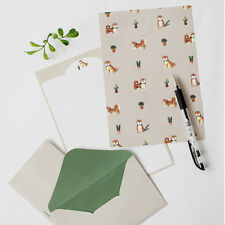 Cute Shiba Dog Inu - Letter set 4sh Lined writing stationery paper 2sh Envelope