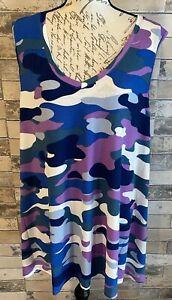 NEW RELEASE LuLaRoe Kristina V Neck Tank Top Shirt 3XL Beautiful Camouflage