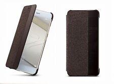 """ORIGINALE Huawei p10 PLUS 5,5"""" SMART FLIP COVER CASE Borsa Custodia Protettiva Marrone"""