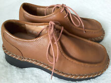 Brevitt Tan Leather Lace-Up Shoes Size 4