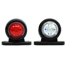 2x LED LKW Begrenzungsleuchten 12V 24V Volt Positionsleuchten Anhänger Rot Weiß