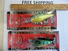 (LOT OF 2) LUCKY CRAFT FLAT CB D-20 CRANKBAIT 3/4OZ FLATCBD20  AU GREEN PERCH