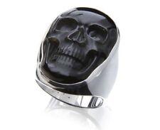 Tribal Spirit Ring Skull Silber 925 Onyx Totenkopf Biker schmuckrausch