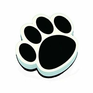 Ashley Paw Shaped Magnetic Whiteboard Eraser - Magnetic, Lightweight - Black,