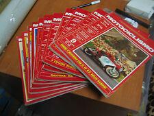 RIVISTA MOTOCICLISMO - BLOCCO DI 9 RIVISTE ANNI 1971-1972-1975-1979-1982 -