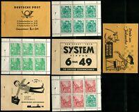 GERMANY DDR Postage Booklet Stamps Collection MINT NH OG