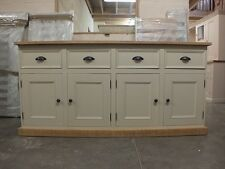 RUTLAND PAINTED 4 DOOR SIDEBOARD HAND MADE ROUGH SAWN BESPOKE SIZES OFF WHITE