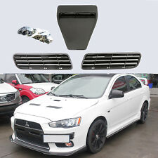 Carbon Fiber Twill Hood Scoop Intake Vent Cover for 08-15 Lancer GTS EVO 10X GSR