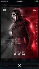 Topps Star Wars Digital Card Trader Platinum Kylo Ren Insert