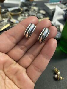 James Avery Sterling Silver Scalloped Hoop Earrings