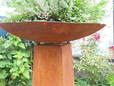 MÉTAL BOL D.55 patine rouille Coupe à fleurs Torche Vasque à feu Bac à plantes