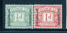 BECHUANALAND PROTECTORATE J1-2 SG#D1-2 MH 1926 Postage Due short set Cat$22