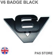 V6 Nero WING BADGE CORPO-FENDER Boot-Auto Furgone BADGE JAGUAR AUDI VW FORD-UK