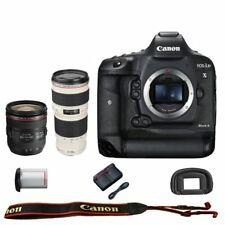 Canon EOS 1DX mark II DSLR Camera Body + 24-70mm f/4L IS USM + EF 70-200mm f/4L