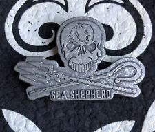 Vintage Sea Shepherd Skull Lapel Pin