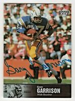 1997 Upper Deck NFL Legends Buy Back Autograph Gary Garrison San Diego Chargers