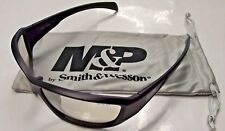 Smith & Wesson MP108-91D Shooting Glasses Black Full Frame With In & Out Lens