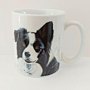 Border Collie Mug Dog & Puppy Pictorial Ceramic Chunky Mug Gift for Him Her NEW