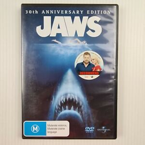 Jaws 30th Anniversary Edition DVD -2 Disc Set - Region 4 - TRACKED POST