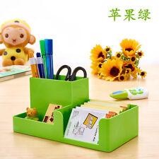 Green Office Home Plastic Desk Pen Pencil Holder Storage Stationery Organizer #J