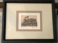 """Scott Fitzgerald Etching Print, Numbered & Signed, Framed, 4 1/2"""" x 3 1/2"""""""