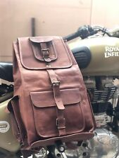 "20"" Large Genuine Leather Back Pack Rucksack Travel Bag For Men's and Women's."