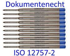 10 x Grossraum- Mine *Parker-System* blau* Kugelschreibermine / LGM10